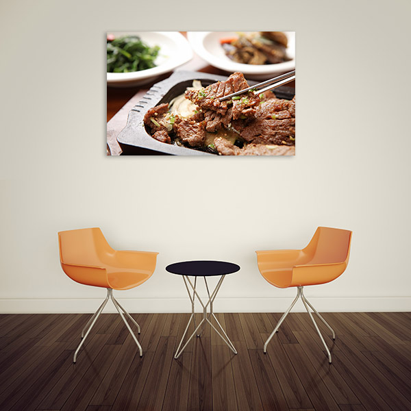 Bulgogi Art Print Closeup Photo Canvas