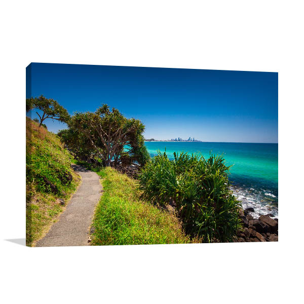 Burleigh Heads Art Print Gold Coast View Artwork