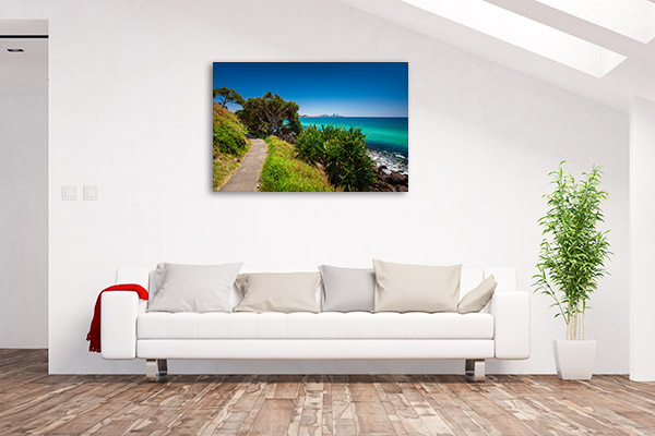 Burleigh Heads Art Print Gold Coast View Canvas Wall