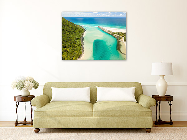 Burleigh Heads Canvas Print Tallebudgera Creek QLD Picture Artwork