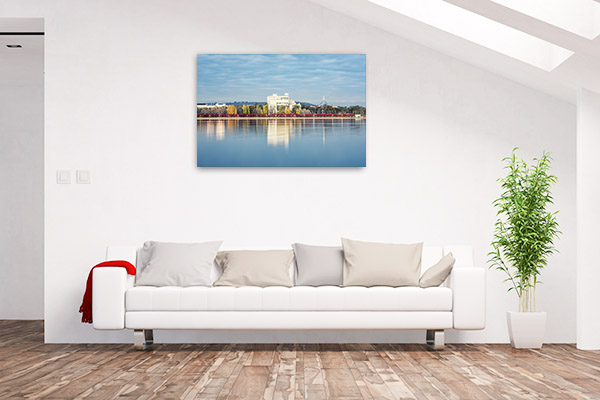 Burley Griffin Lake Art Print ACT Reflection Wall Picture