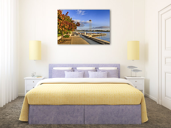 Burley Griffin Lake Art Print Waterfront Picture Canvas