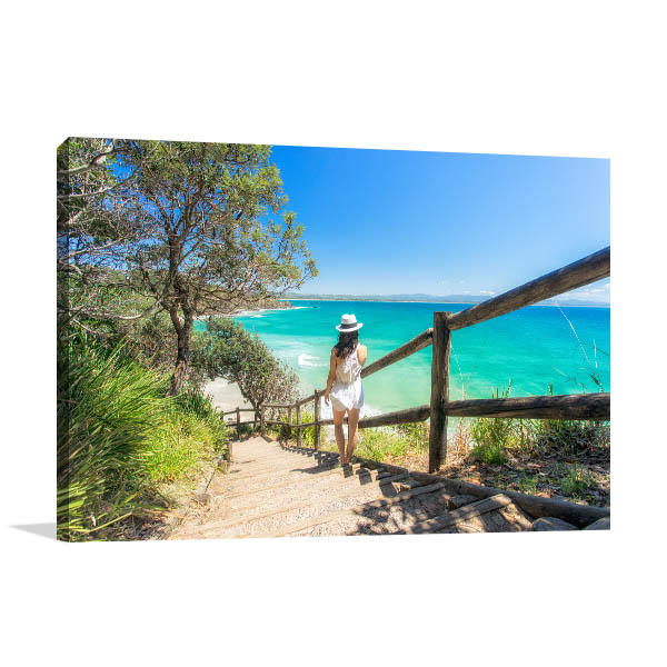 Byron Bay Wall Art Print Wategos Beach Artwork