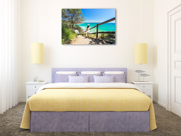 Byron Bay Wall Art Print Wategos Beach Artwork Picture