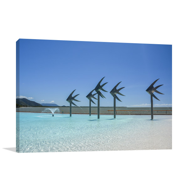 Cairns Canvas Print Swimming Lagoon Art Picture