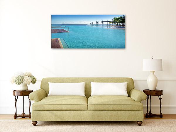 Cairns Lagoon Art Print Public Pool Artwork Photo