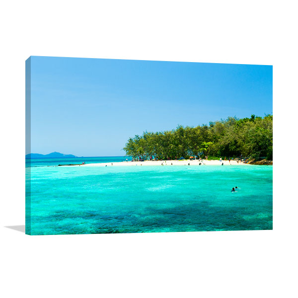 Cairns Wall Art Print Green Island Picture Canvas