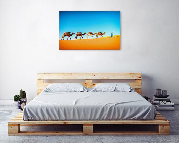 Camels in Desert Artwork Picture