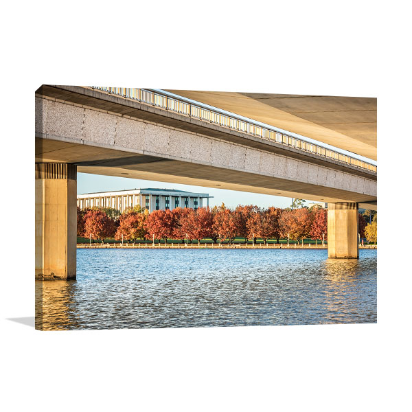 Canberra Art Print Commonwealth Bridge Picture Wall