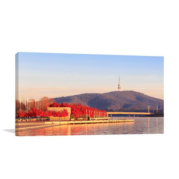 Canberra Art Print Lake Burley Griffin Wall Artwork