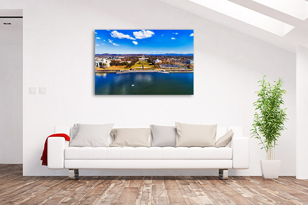 Canberra Art Print Lake Burley Griffin Aerial Picture Canvas