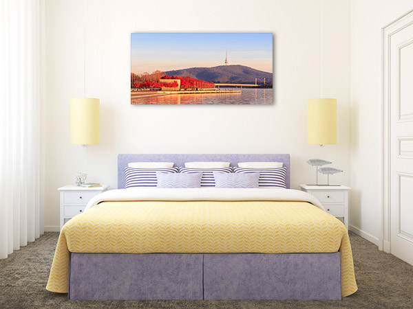 Canberra Art Print Lake Burley Griffin Wall Picture