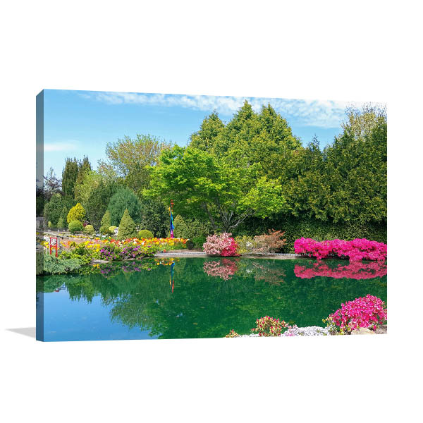 Canberra Canvas Print Cockington Green Gardens Art Picture