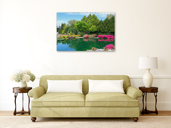 Canberra Canvas Print Cockington Green Gardens Picture Wall