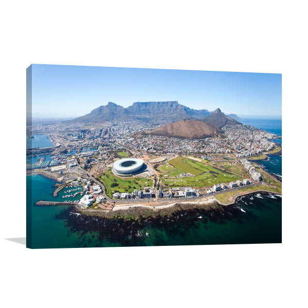 Cape Town Art Print Aerial View Artwork Picture