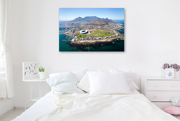 Cape Town Art Print Aerial View Artwork Wall
