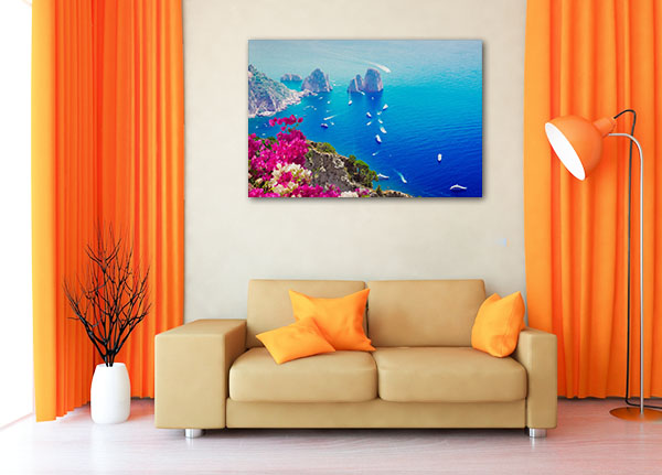 Capri Island Italy Artwork Canvas