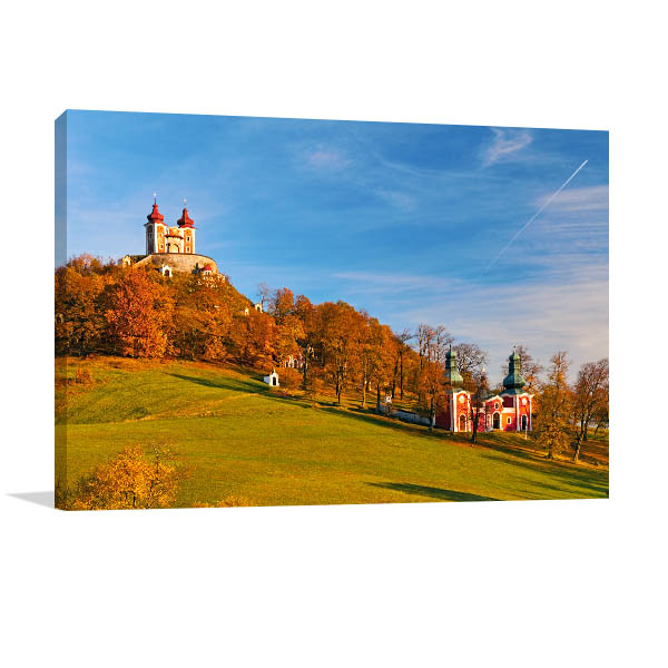 Chapel Banska Art Print Slovakia in Autumn Canvas Wall