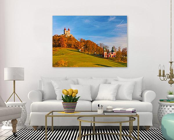 Chapel Banska Art Print Slovakia in Autumn Picture Wall