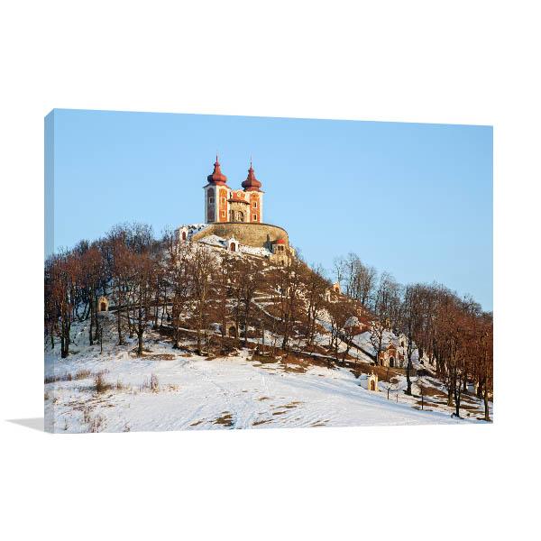 Chapel Banska Art Print Slovakia in Winter Artwork Wall