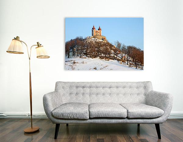 Chapel Banska Art Print Slovakia in Winter Canvas Artwork