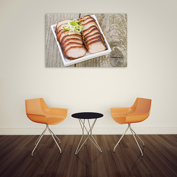 Char Siu Slices Canvas Prints
