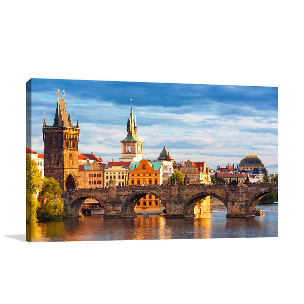 Charles Bridge Art Print Prague Artwork Photo