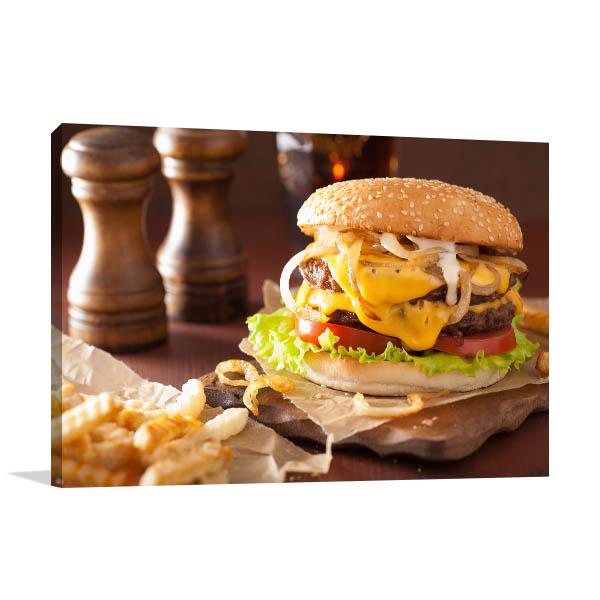 Cheeseburger Prints Canvas Photograph