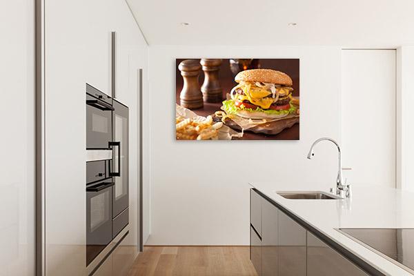 Cheeseburger Canvas Wall Photography