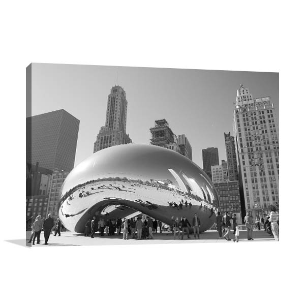 Chicago Art Print Cloud Gate Picture Wall