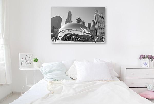 Chicago Art Print Cloud Gate Picture Canvas