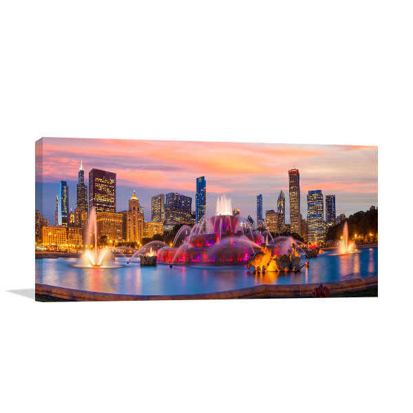 Chicago Art Print Skyline Wall Picture