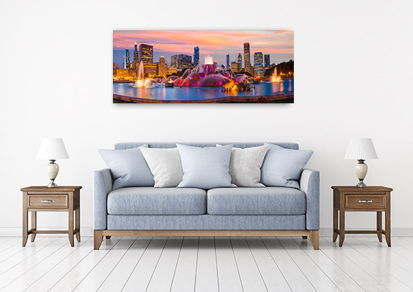 Chicago Art Print Skyline Photo Wall