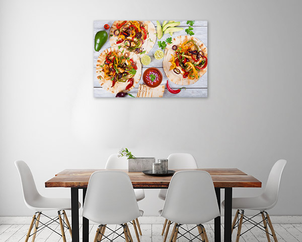 Chicken Fajitas Artwork Canvas