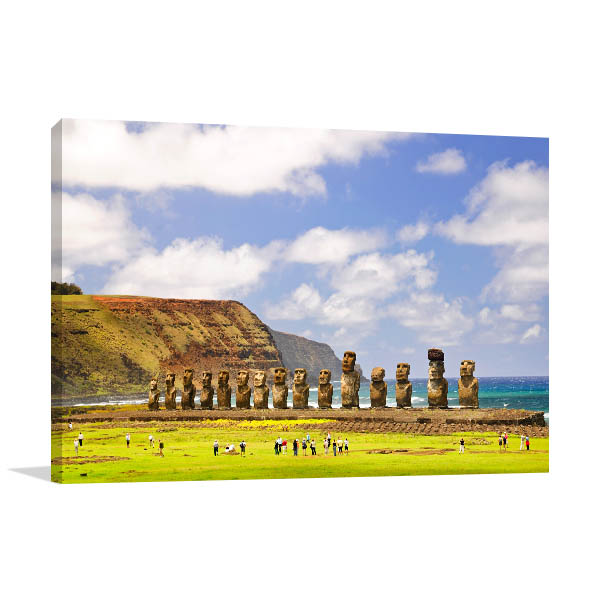 Chile Art Print Easter Island Wall Artwork