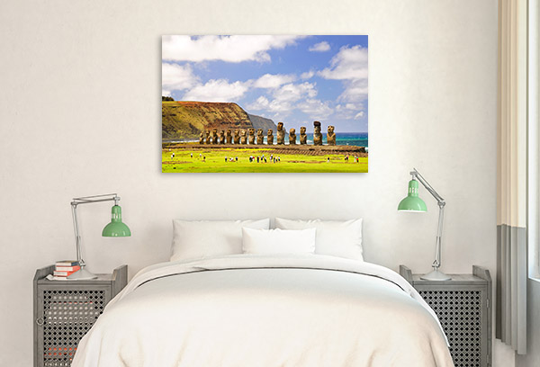 Chile Art Print Easter Island Picture Artwork