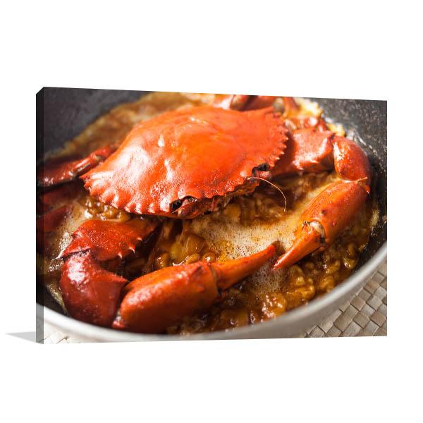 Chili Crab Art Print Closeup Artwork Wall