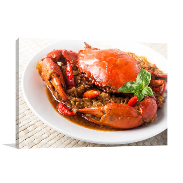Chili Crab Wall Art Photo Print