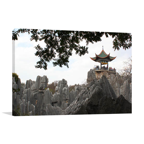 China Art Print Stone Forest Wall Artwork