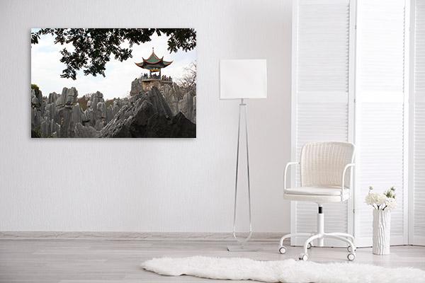 China Art Print Stone Forest Artwork