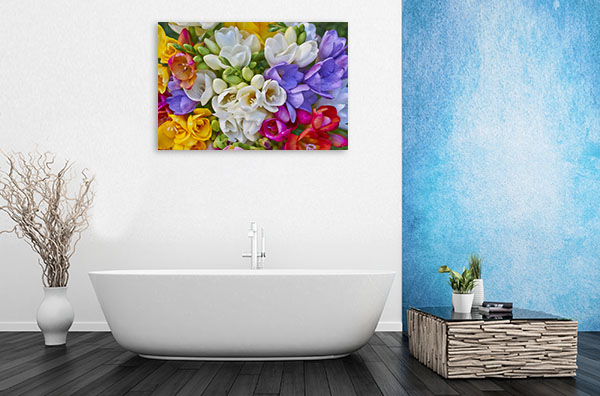 Colourful Freesias Print Artwork