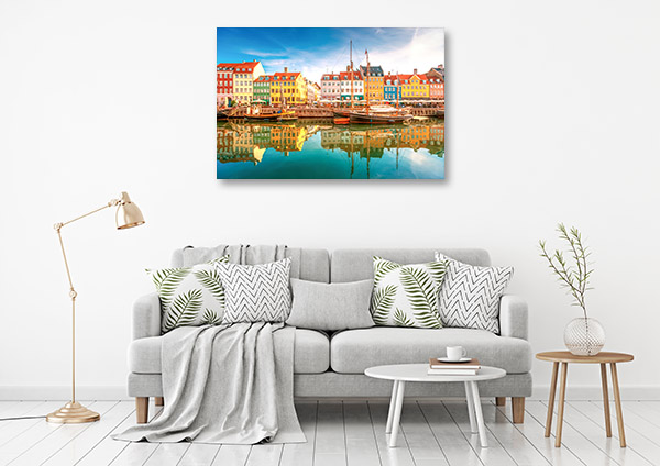 Copenhagen Art Print Colourful Houses Picture Wall