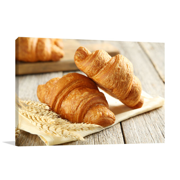Croissant Art Print Closeup Artwork