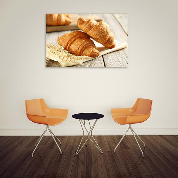 Croissant Art Print Closeup Photo Artwork