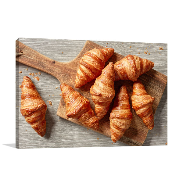 Croissant Art Print Top View Artwork Picture