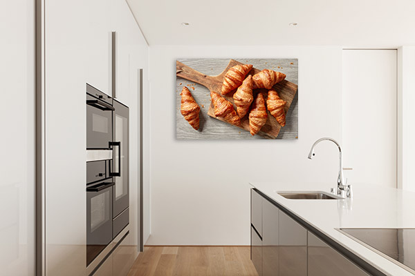 Croissant Art Print Top View Picture Canvas