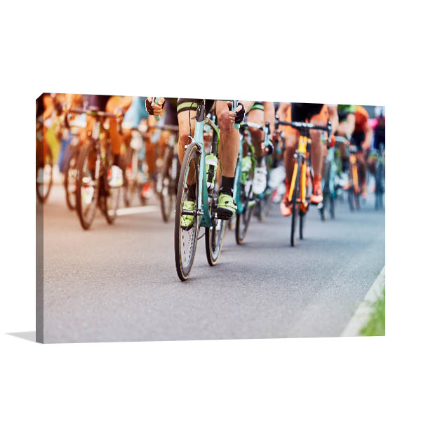 Cyclists Competition Print Photo Art