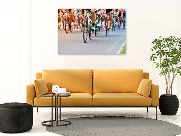 Cyclists Competition Canvas Photo Print