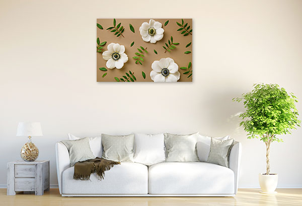 Deconstructed Anemones Picture Wall