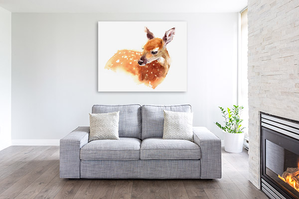 Deer in Watercolour Art Photo